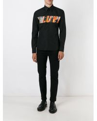 Givenchy - Black Love Print Shirt for Men - Lyst
