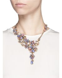 Erickson Beamon | Multicolor 'botanical Garden' Swarovski Crystal Floral Necklace | Lyst