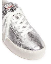 Ash 'cult' Metallic Leather Platform Sneakers