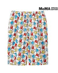 Uniqlo - White Men Sprz Ny Steteco Shorts (Keith Haring) for Men - Lyst