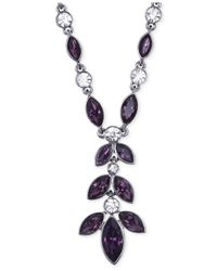 Jones New York - Purple Light Hematite-tone Tanzanite Y Necklace - Lyst
