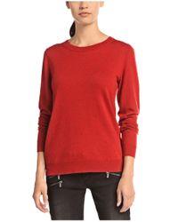 BOSS Orange | Red 'widy' | Virgin Wool Cashmere Beaded Sweater | Lyst