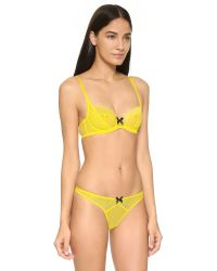 L'Agent by Agent Provocateur | Carla Balcony Bra - Yellow | Lyst