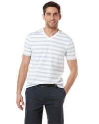 Perry Ellis | Blue Modern Fit Heathered Stripe T-shirt for Men | Lyst