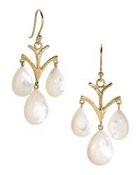 Elizabeth Showers | White Vintage Mother-of-pearl Chandelier Earrings | Lyst