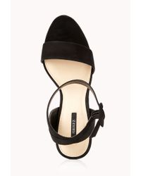 Forever 21 Black Striking Platform Sandals