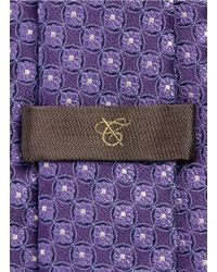 Canali - Purple Floral Wheel Jacquard Silk Tie for Men - Lyst
