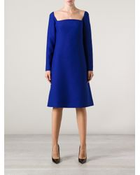 Valentino - Blue Sculpted Dress - Lyst