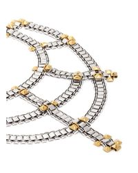 Ela Stone | Metallic 'Blake' Cluster Stud Chain Link Tier Necklace | Lyst