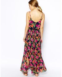 Oasis - Pink Tropical Floral Cami Maxi Dress - Lyst
