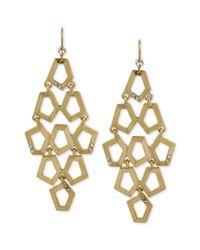 Kenneth Cole | Metallic New York Goldtone Geometric Crystal Chandelier Earrings | Lyst