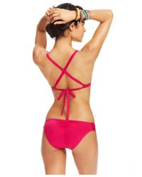 Lucky Brand - Purple Cutout Hipster Bikini Bottom - Lyst