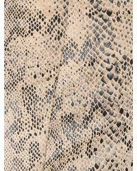 Izabel London - Natural Faux Snakeskin Pencil Skirt - Lyst
