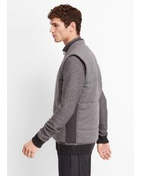 Vince | Gray Clean Knit Quilted Vest for Men | Lyst