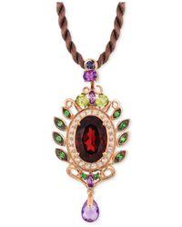 Le Vian ® Fiery Reds™ Raspberry Rhodolite Garnet (5-1/3 Ct. T.w) And Multistone (1-3/4) Pendant In 14k Rose Gold