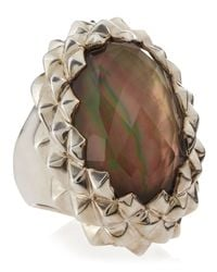 Stephen Webster | Brown Studded Oval Motherofpearl Ring Size 7 | Lyst