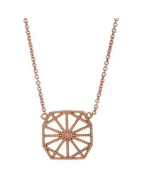 Grace Lee | Pink White Gold Petite Deco Ii Necklace | Lyst