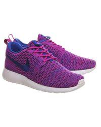 Nike Purple Roshe Run Flyknit (w)