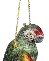 Judith Leiber Multicolor 'paolo Parrot' Crystal Pavé Minaudière
