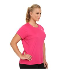 Nike | Pink Dri-fit™ Extended Miler Short Sleeve Top | Lyst