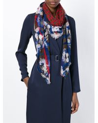 Armani Jeans   Blue Mixed Print Scarf   Lyst