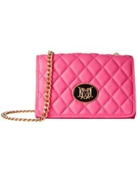Love Moschino | Pink Quilted Crossbody | Lyst