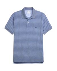 Brooks Brothers - Blue Slim Fit Two-tone Stripe Polo for Men - Lyst