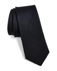 W.r.k. - Blue Textured Silk & Cotton Tie for Men - Lyst
