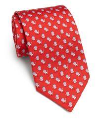 Ferragamo - Red Crowned Lion Silk Tie for Men - Lyst