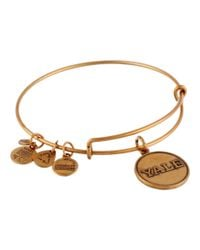 ALEX AND ANI | Metallic Yale University Logo Charm Bangle | Lyst
