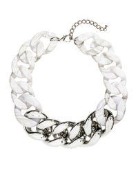 H&M - Metallic Wide Neck Chain - Lyst