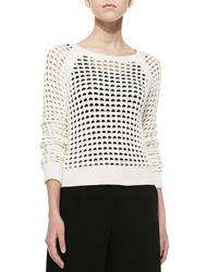 Bailey 44 | White Nairobi Sweater With Ribbed Trim | Lyst