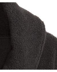H&M Black Pile Jacket for men