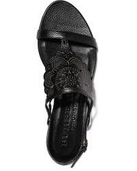 Burberry Prorsum - Black Laser-cut Leather Sandals - Lyst