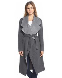 Elie Tahari | Gray 'milano' Long Wrap Coat | Lyst