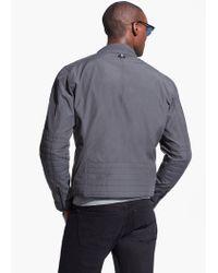 Mango Gray Water-Repellent Nylon Jacket for men
