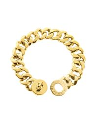 Marc By Marc Jacobs | Metallic Turnlock Golden Brass Katie Bracelet | Lyst