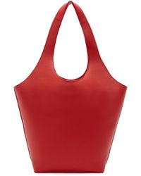 J.W.Anderson Red Leather Basket Tote
