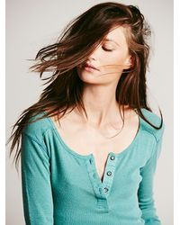 Free People - We The Free Blue Monday Henley - Lyst