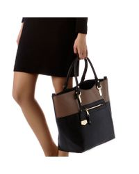 Carvela Kurt Geiger Black Fleta Mix Tote Bag