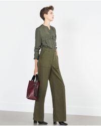Zara | Natural Flowing Shirt | Lyst