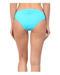 La Blanca - Blue Solid Ruched Hipster - Lyst