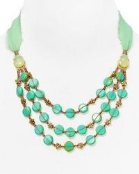 "Coralia Leets Green Silk Necklace, 13-24"""