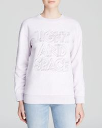 Marc By Marc Jacobs Pink Sweatshirt - Light And Space Elbow Patch