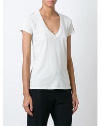 James Perse Natural V-neck T-shirt