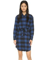 Cheap Monday | Black Flannel Dress | Lyst