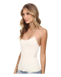 Free People White Cross Strap Cami