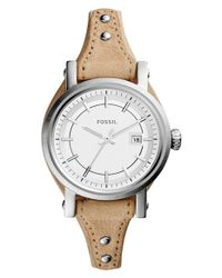 Fossil | Metallic 'perfect Boyfriend' Chronograph Watch | Lyst