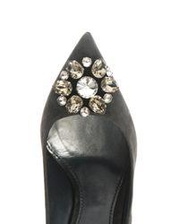 Dolce & Gabbana Gray Bellucci Embellished Suede Pumps