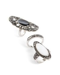 TOPSHOP | Metallic Filigree Rings | Lyst